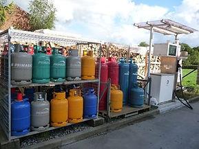 gasflessen bij brandstoffen Vantomme in Ieper