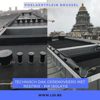 Technisch dak gerenoveerd met Resitrix - PIR Isolatie