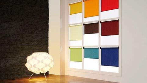 Voorbeelden kleuren binnenzonwering op maat die u vindt bij Ridoo in Hove