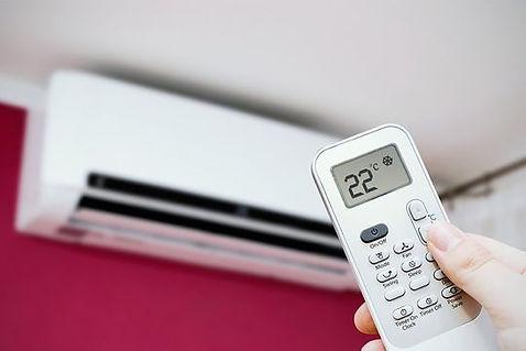 airconditioning wordt op 22 graden gezet