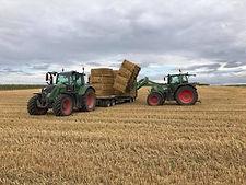 Hooi-en strohandel strobalen tractor Limburg
