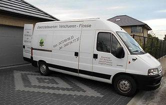 Bestelwagen van EVF te Heist-op-den-Berg