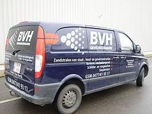 Belettering van bakkerswagen BVH