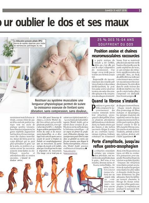 Article paru dans 'Vers l'Avenir' le 29/08/2019 écrit par Dominique Wauthy
