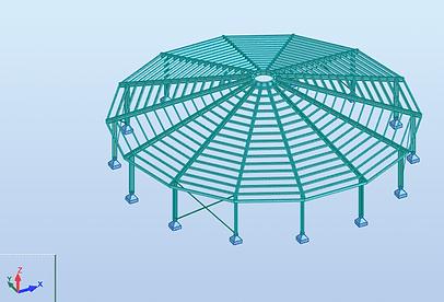 3D rekenmodel in RSA Professional - Molenkoning