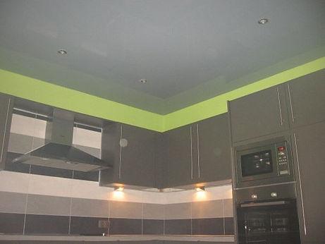 Plafond tendu d'une cuisine