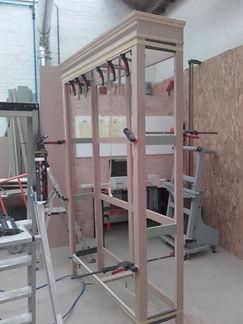 Chantier : Client Privé.(2017) Fabrication à l'ancienne 2 bibliothèques en chêne.