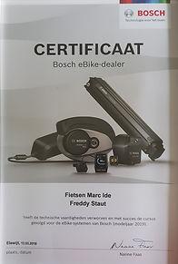Bosch eBike certificat Fietsen Staut Melsele