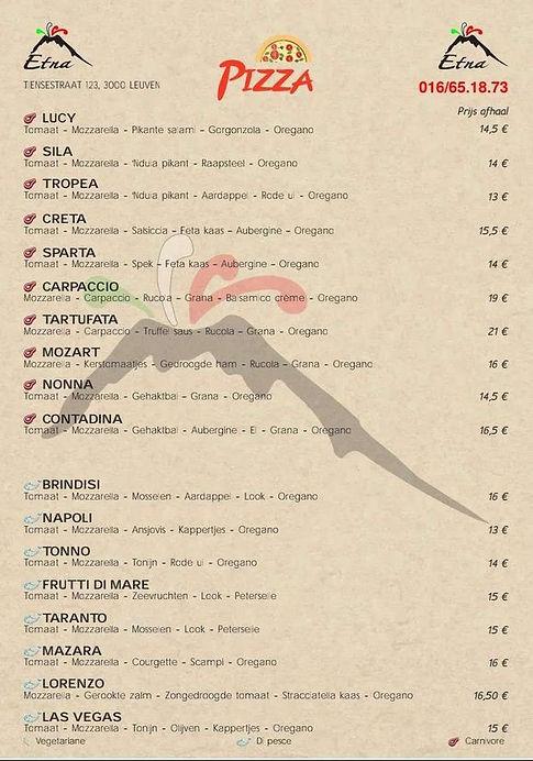 Etna menukaart 2021 deel 2