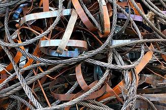oude metalen kabels