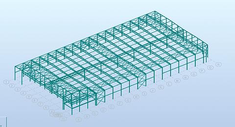 3D rekenmodel in RSA Professional - Molenschot Industriebouw
