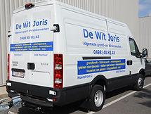 Beletteren bestelwagen Joris De Wit Meerhout