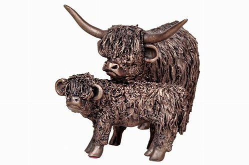 Highland Cow and Calf Standing (medium)