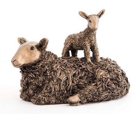 Ewe with Lamb on Back