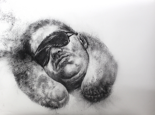 Diane Victor - Sleeping in a time of need IV, Drawing
