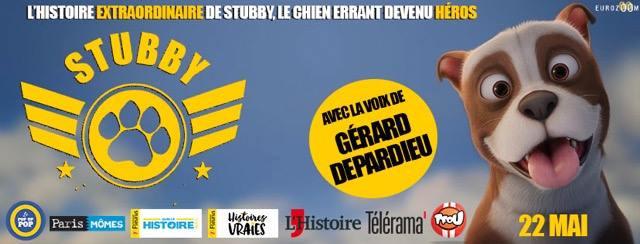 Au cinéma actuellement.  Avec la voix de Gérard Depardieu.