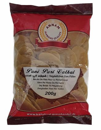 Annam Ready to Fry Dry Gol Gappa / Pani Puri / Puchka Fryums 200g