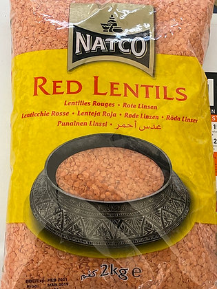Natco - Red Lentils 2 Kg