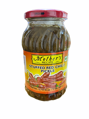 Mother's Stuffed red Chilli pickle 500 gm