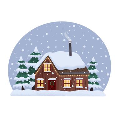 Snowy Cabin