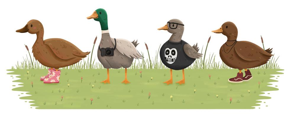 Duck Family Portrait
