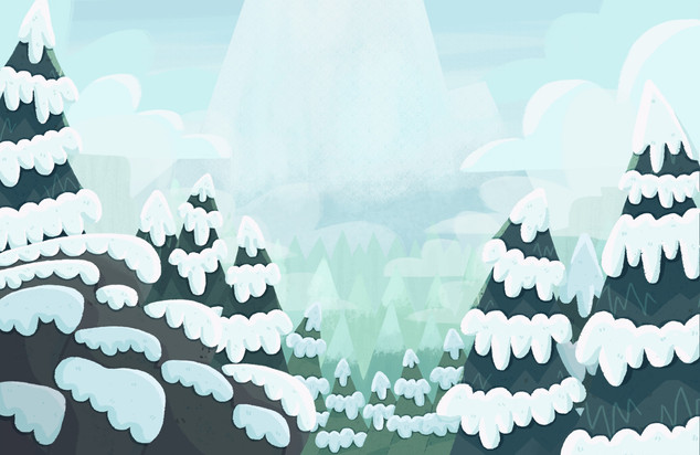 Mountain Beyond the Trees