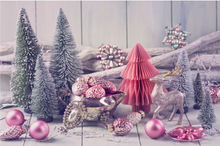 Pink Christmas, Color Scheme, Holiday Decor