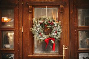 Christmas wreath, greenery, Christmas decor