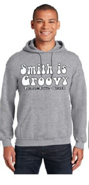 """""""Smith is Groovy"""" Gray Adult Hoodie"""