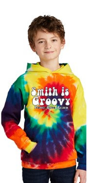 """""""Smith is Groovy"""" Tie-Dye Youth Hoodie"""