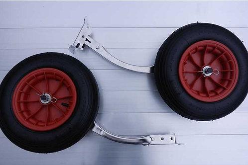 Transom Wheels 400mm (pneumatic, retractable & detachable)