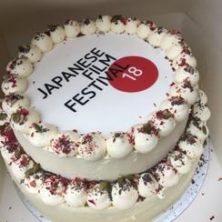 Two Tier Logo Cake