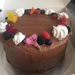 """Two Tier 7"""" Chocolate"""