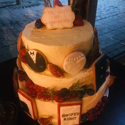 Wedding Cake with Personalised Cookies