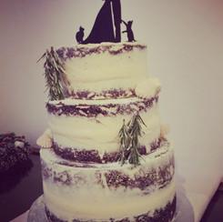 Winter Nude Wedding Cake