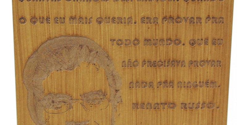 Quadro Rústico Renato Russo - 25x30cm