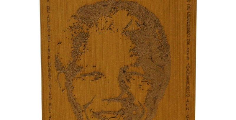 Quadro Rústico Nelson Mandela - 24x40cm