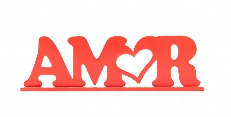 Palavra Decorativa Amor - 8,6x31cm