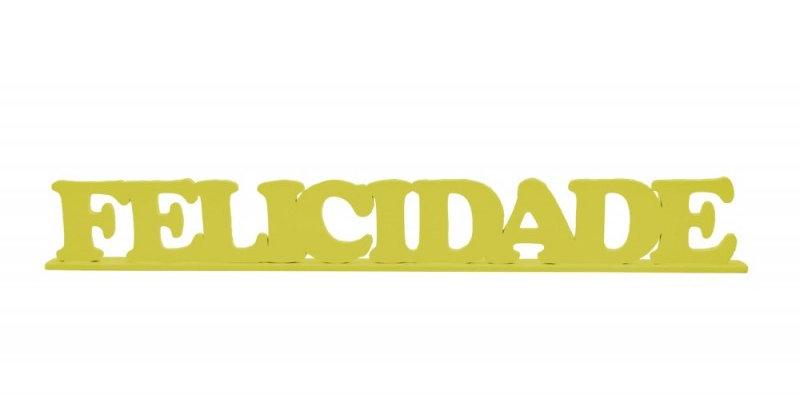Palavra Decorativa Felicidade - 5,3x41cm
