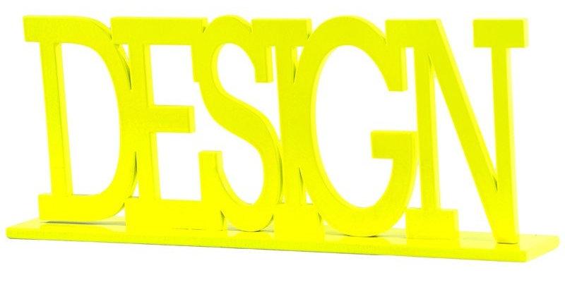 Palavra decorativa Design - 13,5x34cm
