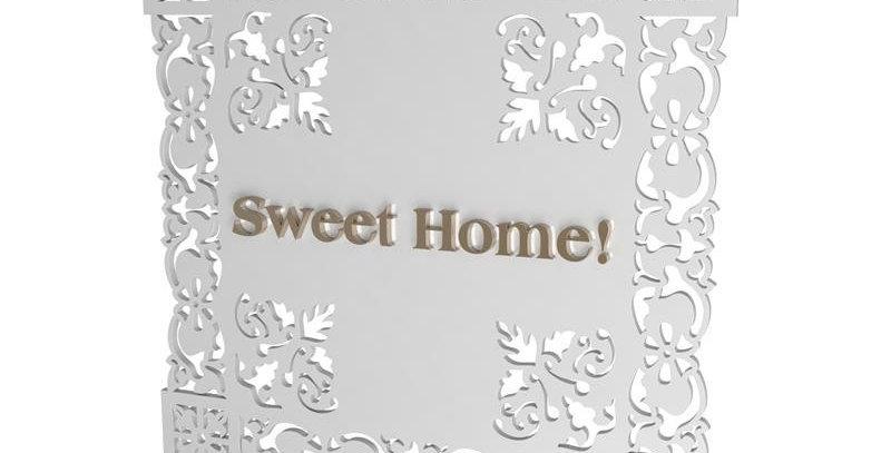 Quadro Home Sweet Home - 35x35cm