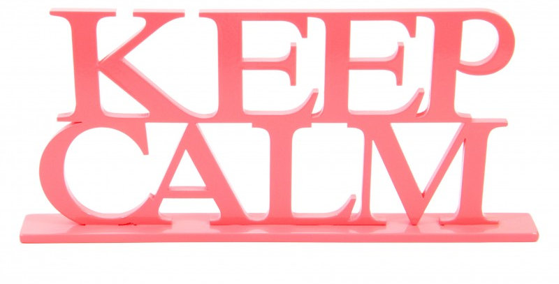 Palavra decorativa Keep Calm - 15x33cm