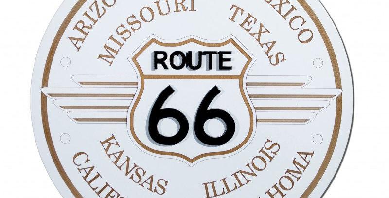 Quadro Route 66 Branco - 40x40cm