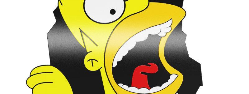 Quadro Homer Gritando - 40,2x28,4cm