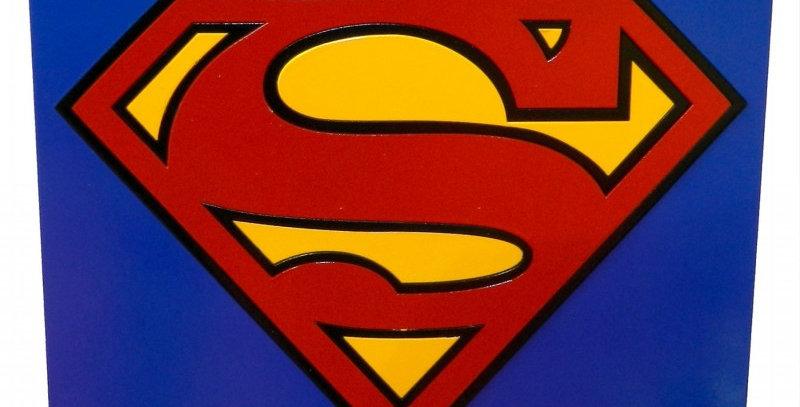 Quadro Decorativo Super Herói Super Homem - 40x40cm
