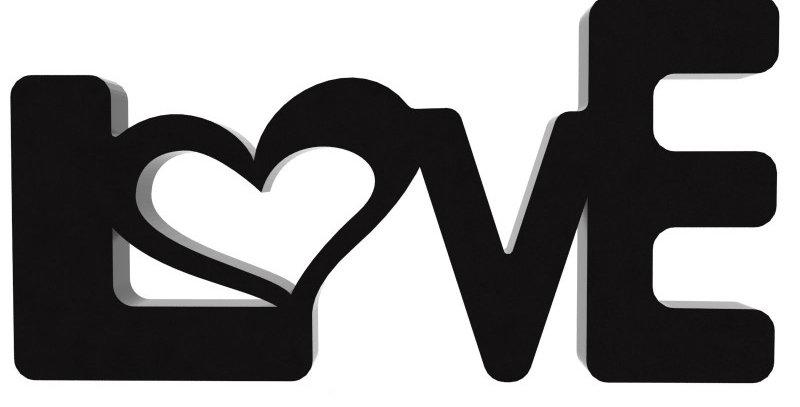 Palavra Decorativa Love - 14x28cm