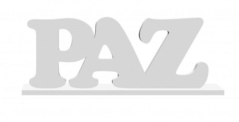 Palavra Decorativa Paz Cooper - 22x9cm