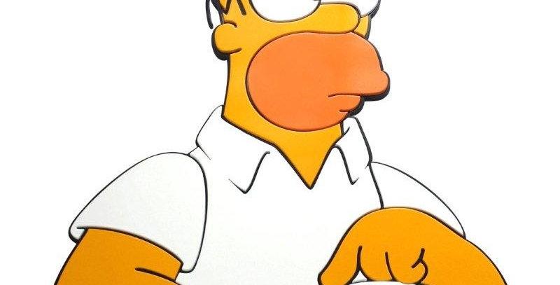Quadro Homer Pensativo - 40,2x28,4cm