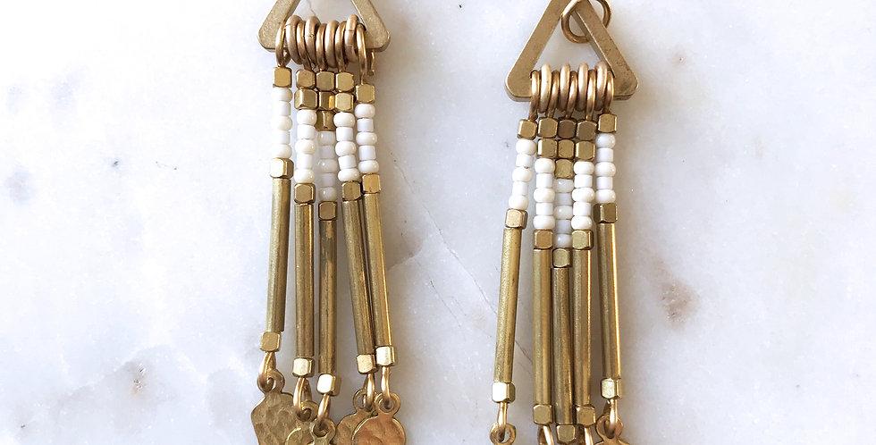 Agave Earrings in Cream