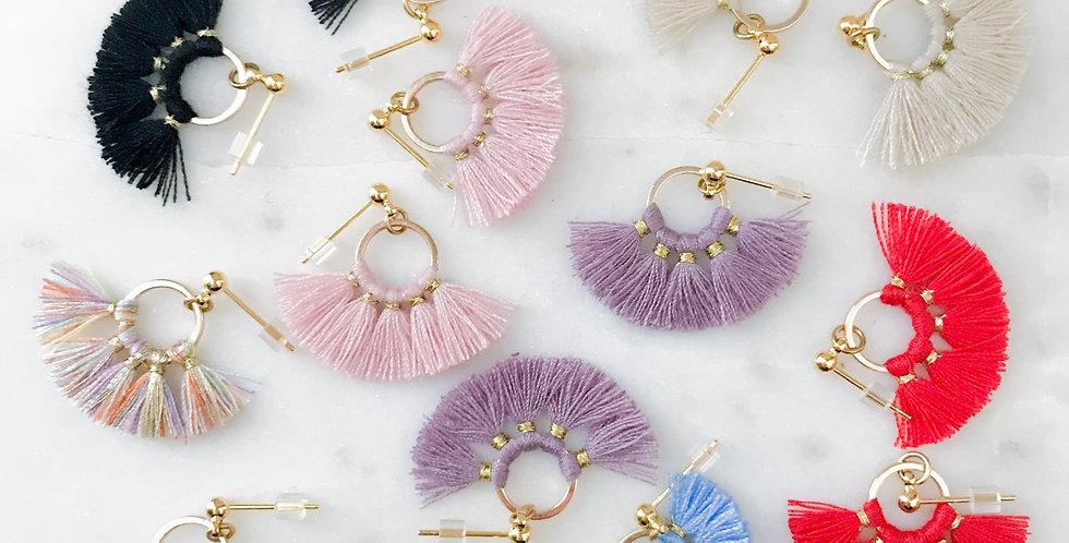 Wholesale Fan Earrings (available in 7 colors)